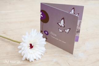 Geboortekaart Meisje vlinders