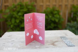 Geboortekaart meisje met wolken