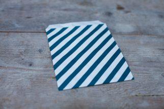 Kraft zakjes blauw strepen