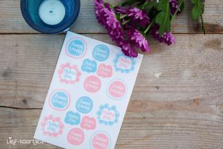 Stickers Sweet 5 stuks