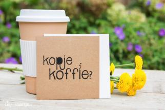 Kraft kaartje kopje koffie?