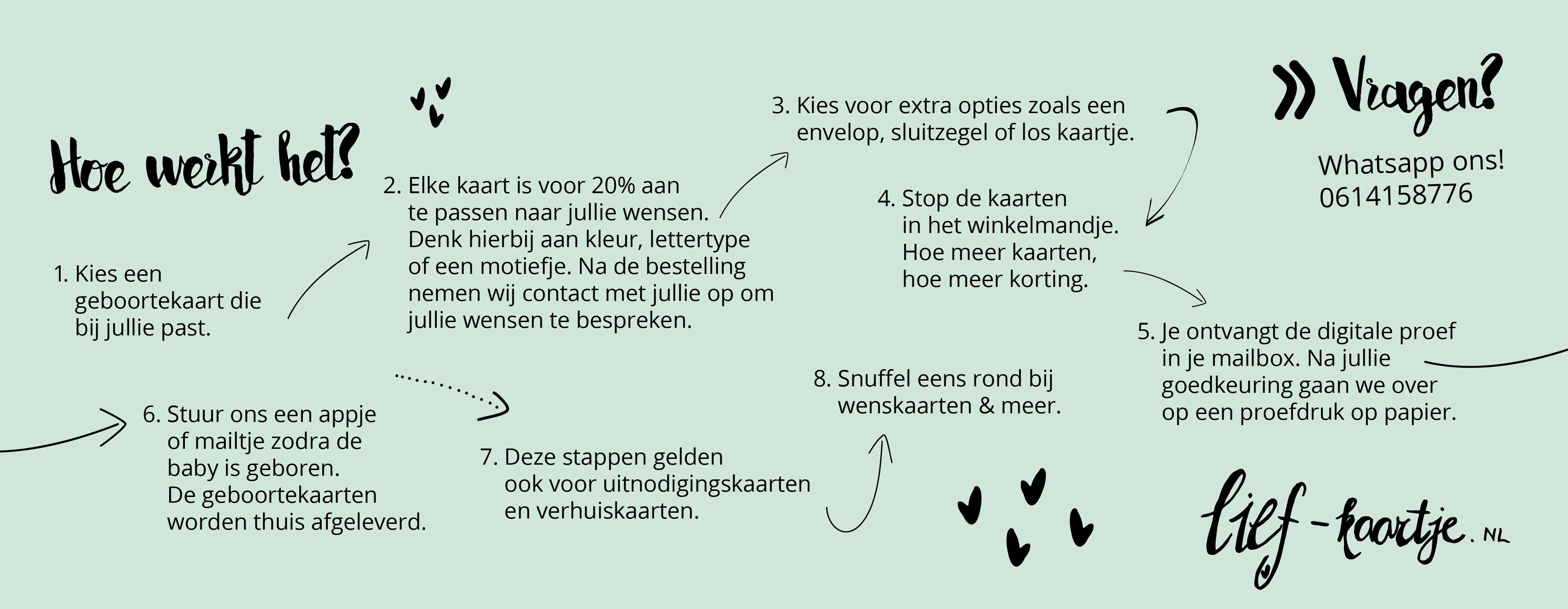 Banner lief-kaartje.nl geboortekaarten - hoe werkt het1.1