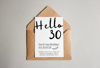 Uitnodigingskaart 30 jaar