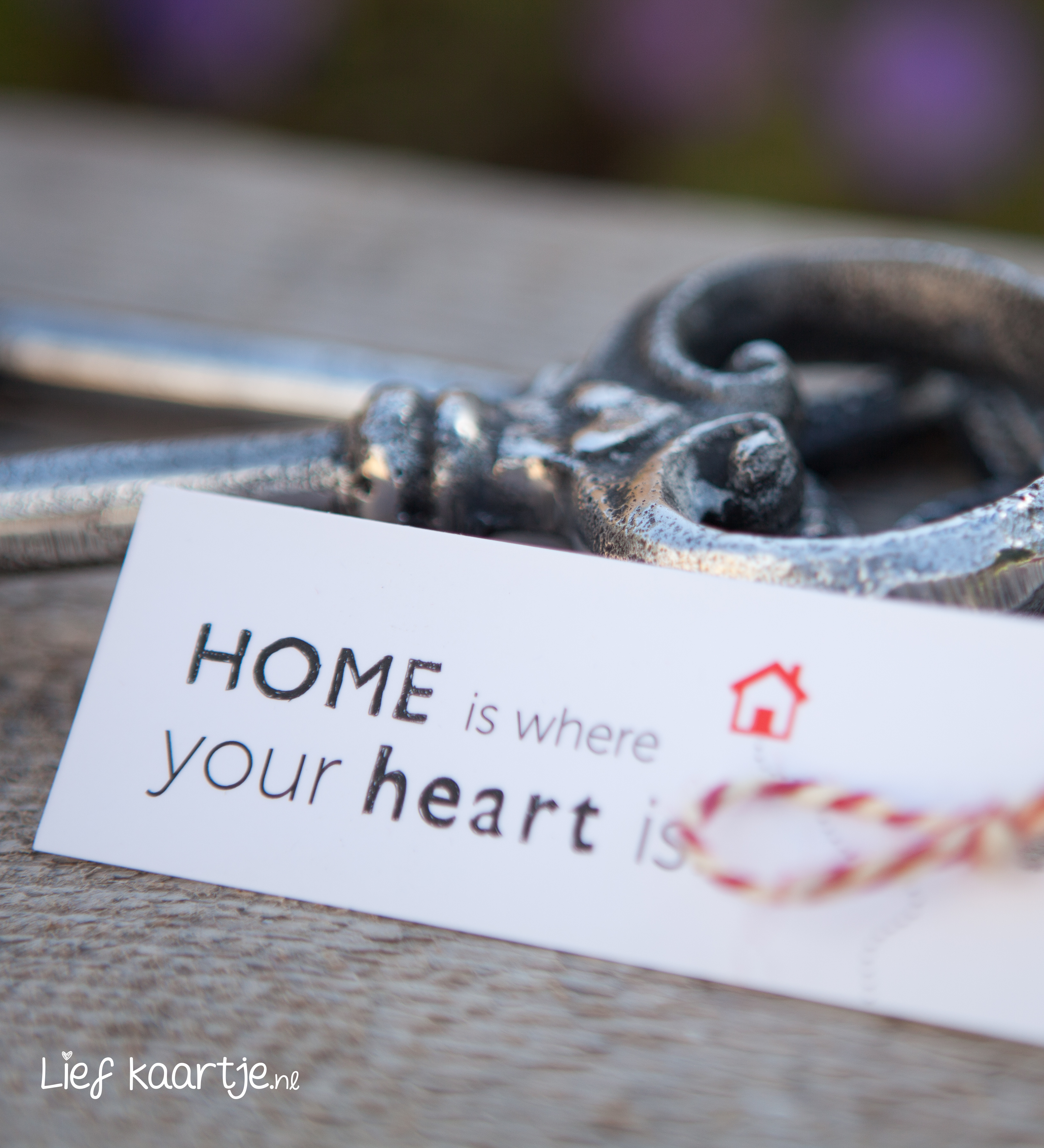 Kadolabel 'Home is where your heart is'