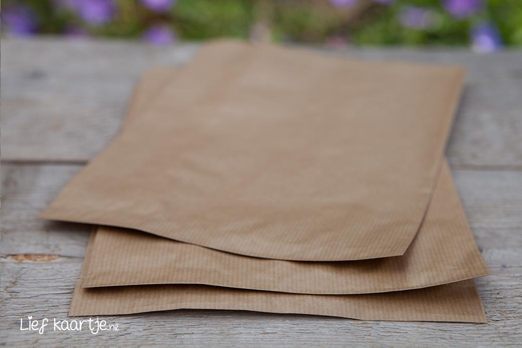 Kies voor kraft zakjes als envelop en  wees hiermee origineel!
