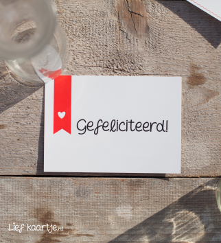 Wenskaart Gefeliciteerd met vlag!