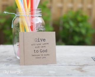 Kraft kaartje Give all...