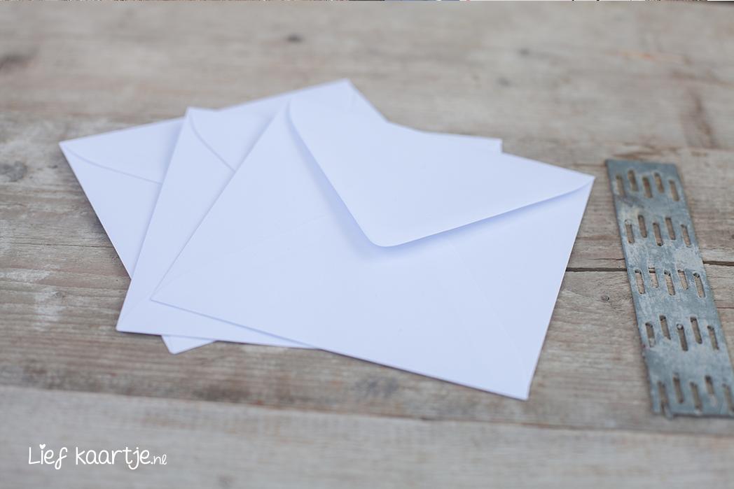 Envelop wit 15x15cm