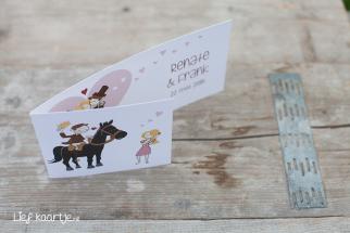 Trouwkaart met paard