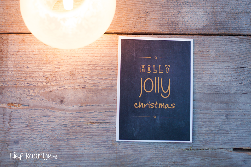 Poster kerst chique A4