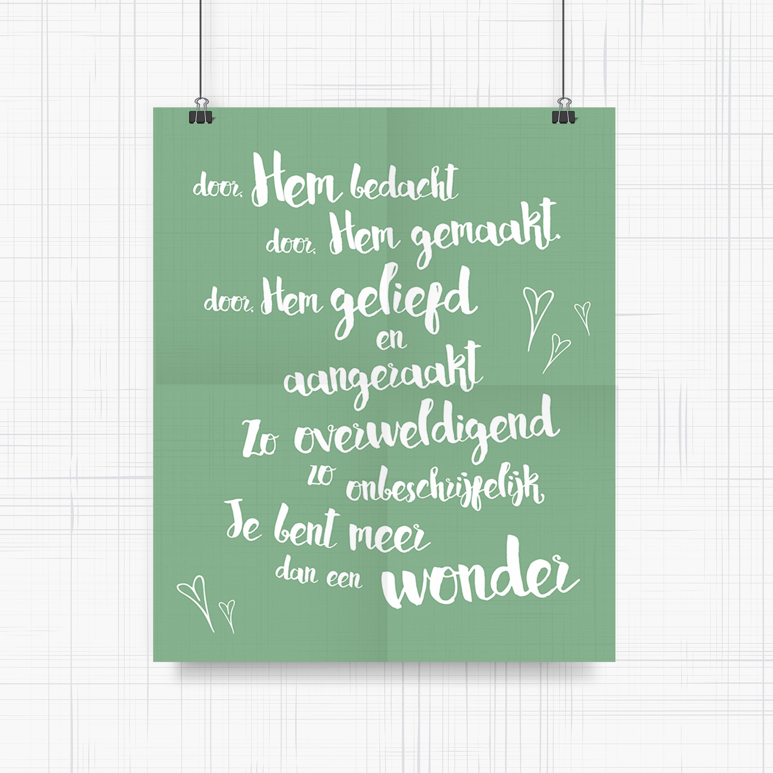 Laat van je geboortekaart een poster ontwerpen voor jullie babykamer. Ook leuk om te geven als kraamcadeau!