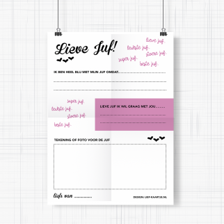 Poster afscheid juf - freeprintable