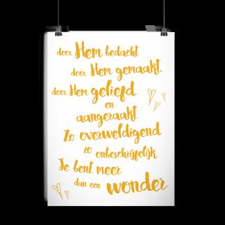 Poster babykamer 'Wonder'