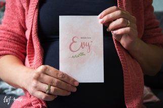 Geboortekaart watercolor roze