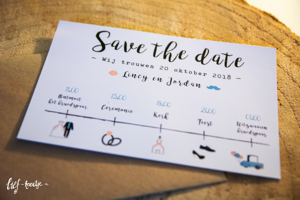 Save the date met iconen